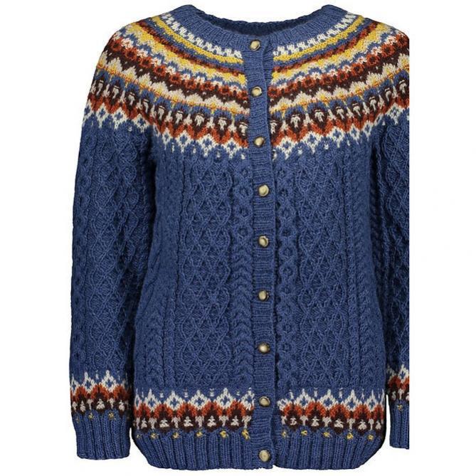 "Karheikko Cardigan for Women,  39 1/4 "" to 48 1/4,"" knit-a3-jpg"