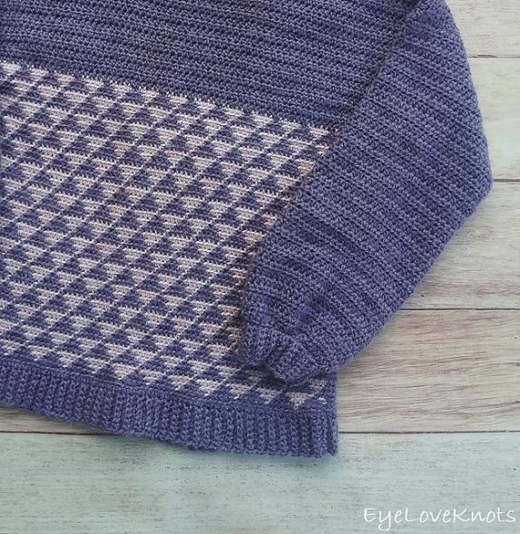 Tessellated Triangles Sweater for Women,  XS-3X-w2-jpg