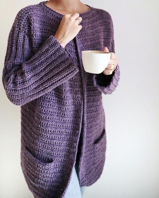 Sunday Coffee Cardigan for Women, XS-2XL-w4-jpg