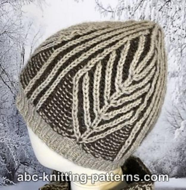 Winter Woods Brioche Hat, Cowl and Scarf. knit-a1-jpg