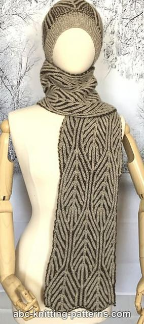 Winter Woods Brioche Hat, Cowl and Scarf. knit-a3-jpg