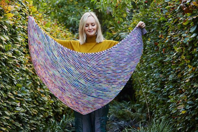 Fading Stripes Shawl, knit-s1-jpg