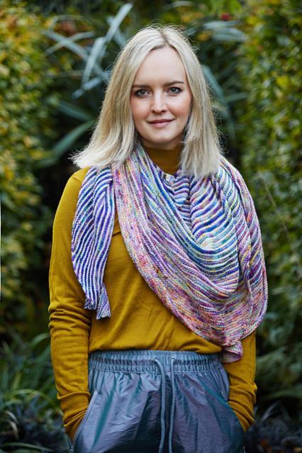 Fading Stripes Shawl, knit-s4-jpg