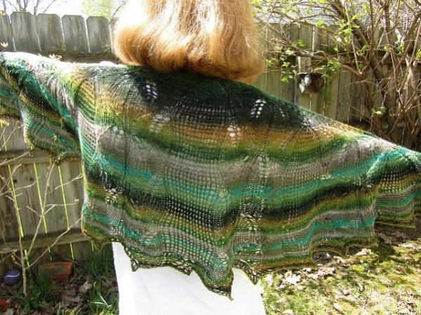 Somebody Told Me Shawl, knit-a3-jpg