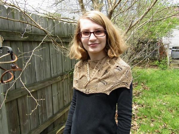 Somebody Told Me Shawl, knit-a4-jpg