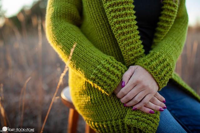 Tunisian Knit Short Row Cardi for Women, XS-3XL-q1-jpg