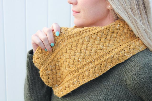 Mustard Puff Infinity Cowl for Adults-q2-jpg