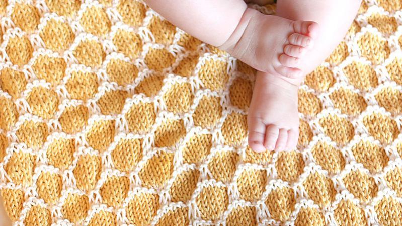 Honeycomb Baby Blanket, knit-a5-jpg
