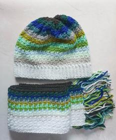 Ocean Fade Hat and Scarf for Adults-e2-jpg