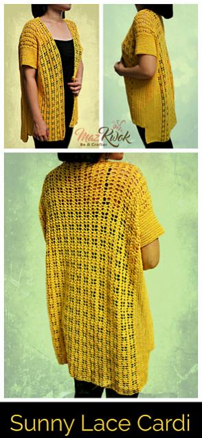 Sunny Lace Cardi for Women, XL only-d2-jpg