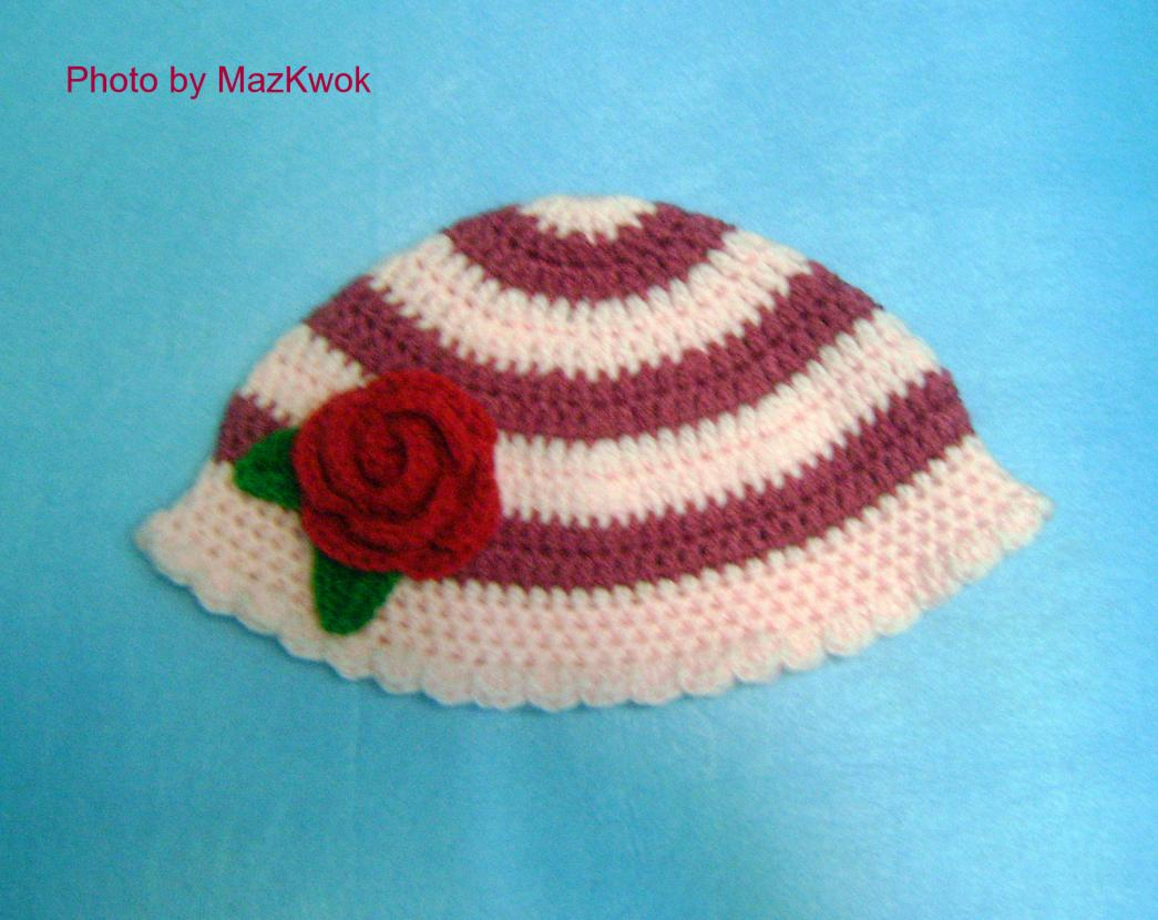 New free patterns: Stripy child hat & Super red bird-1-dsc04427-jpg