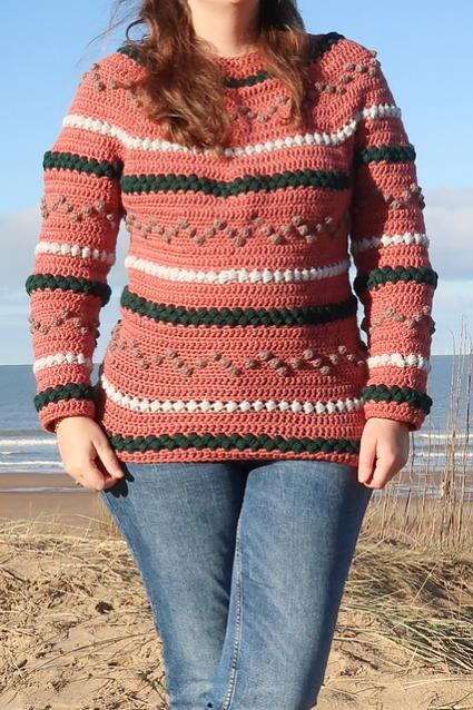 Beads and Bobbles Sweater for Women, XS-5XL-w1-jpg