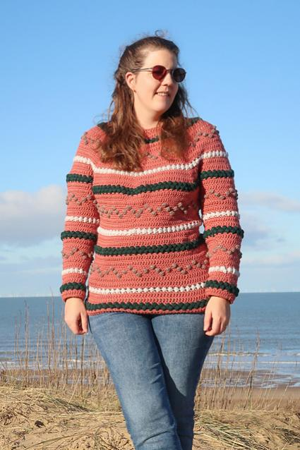 Beads and Bobbles Sweater for Women, XS-5XL-w3-jpg
