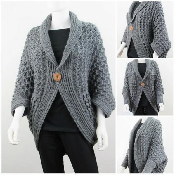 Textured Blanket Cardigan for Women, XS-XXL-e2-jpg