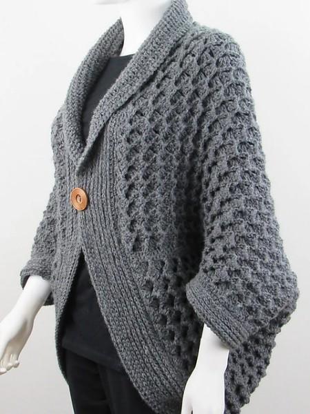 Textured Blanket Cardigan for Women, XS-XXL-e3-jpg
