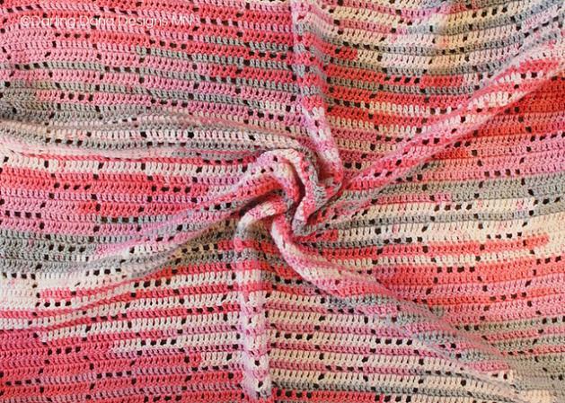Bee's Knees Honeycomb Baby Blanket-e1-jpg