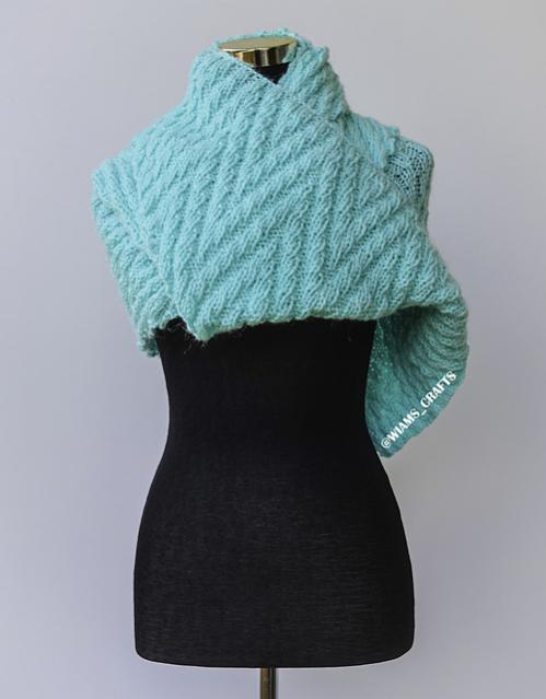 Slithering Shawl, knit-a4-jpg