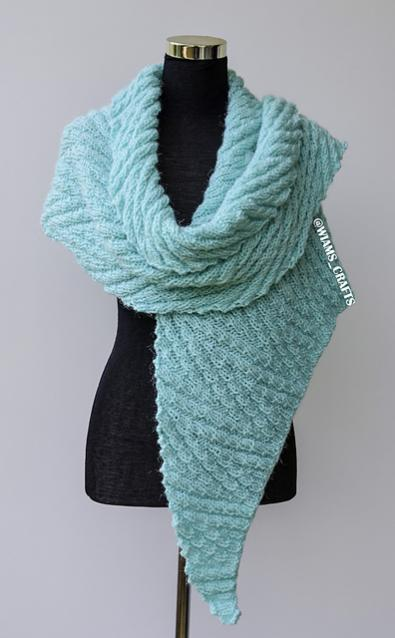 Slithering Shawl, knit-a5-jpg