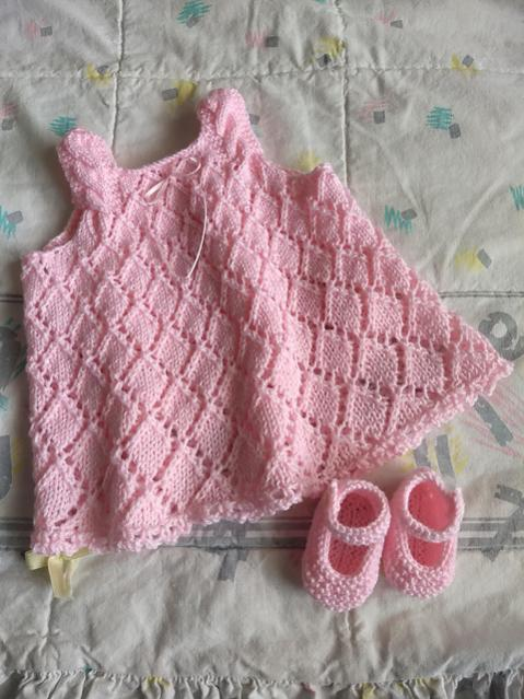 Diamond Baby Dress, Newborn to 12 mos, knit-r1-jpg