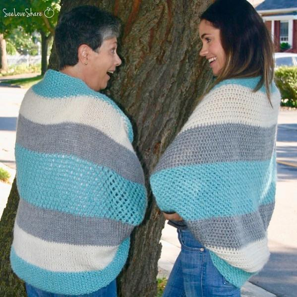 Simple Comfy Blanket Sweater, knit and crochet-d1-jpg