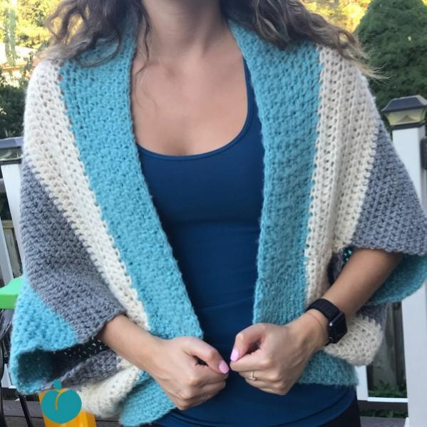 Simple Comfy Blanket Sweater, knit and crochet-d2-jpg
