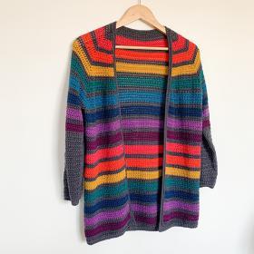 Any Yarn Will Do Seamless Raglan Cardigan for Women, XS-3XL-q1-jpg