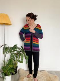 Any Yarn Will Do Seamless Raglan Cardigan for Women, XS-3XL-q2-jpg