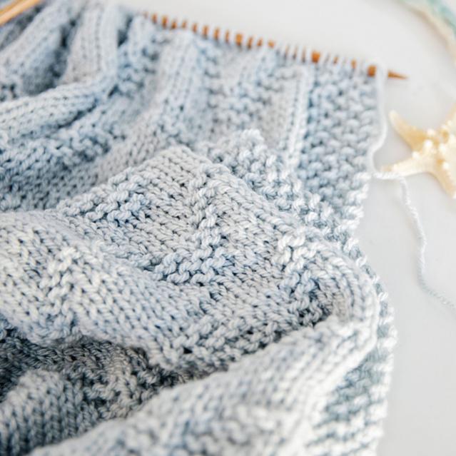 Seaside Baby Blanket, knit-a4-jpg