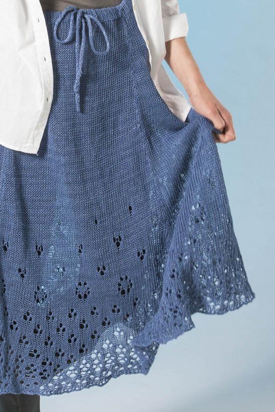 Eyelet Skirt for Women, XS-3XL, knit-a2-jpg