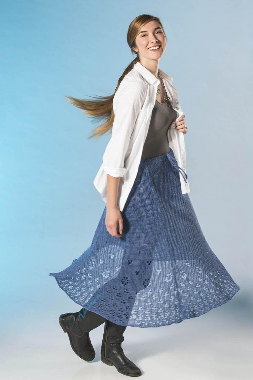 Eyelet Skirt for Women, XS-3XL, knit-a3-jpg