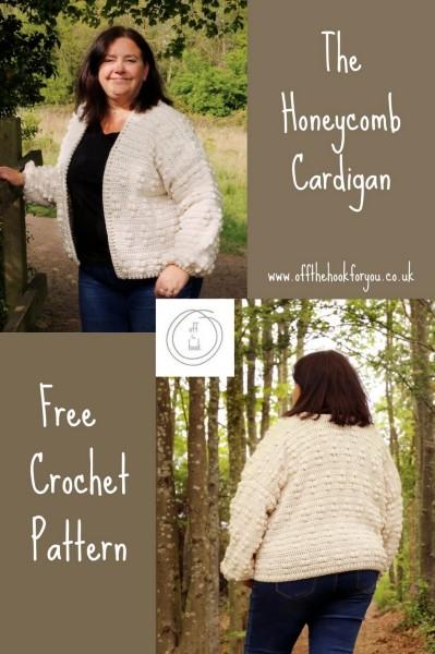 Honeycomb Cardigan for Women, XS-5X-q2-jpg