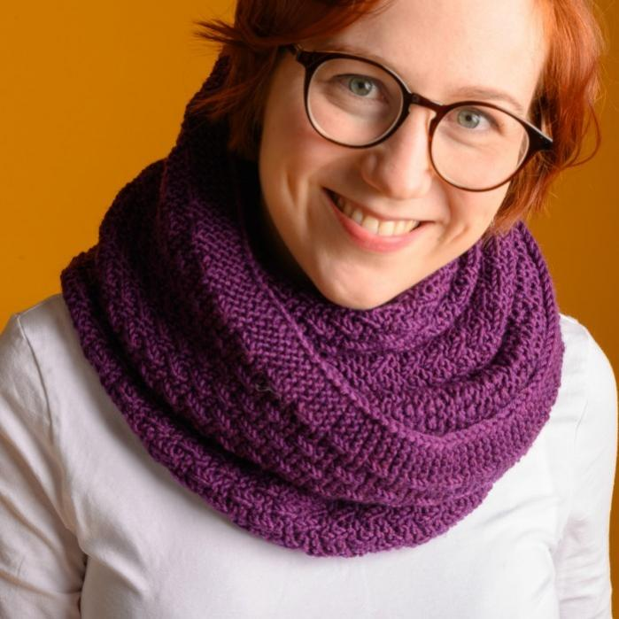 Lea Tube Scarf for Women, knit-r1-jpg