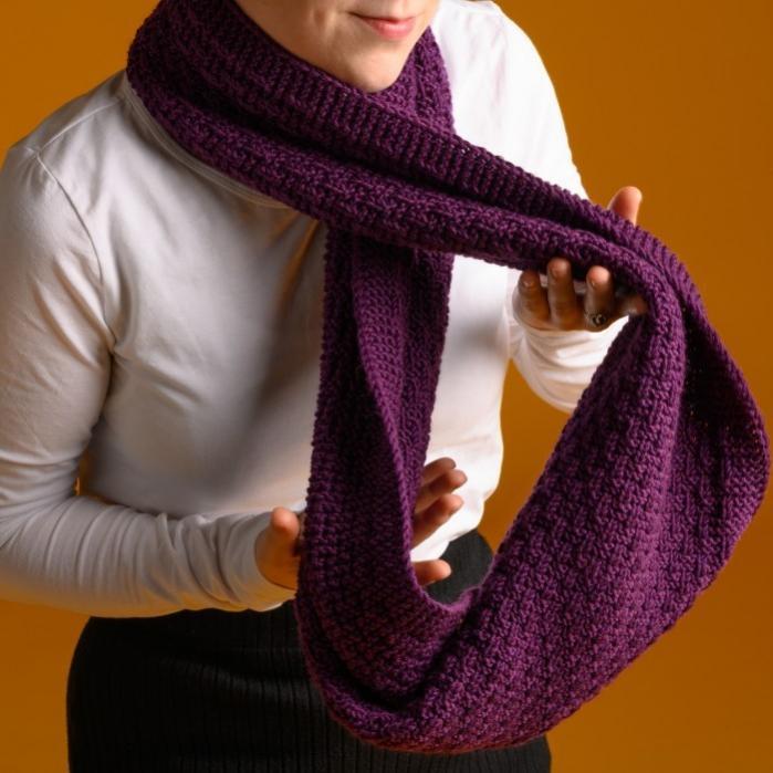 Lea Tube Scarf for Women, knit-r3-jpg