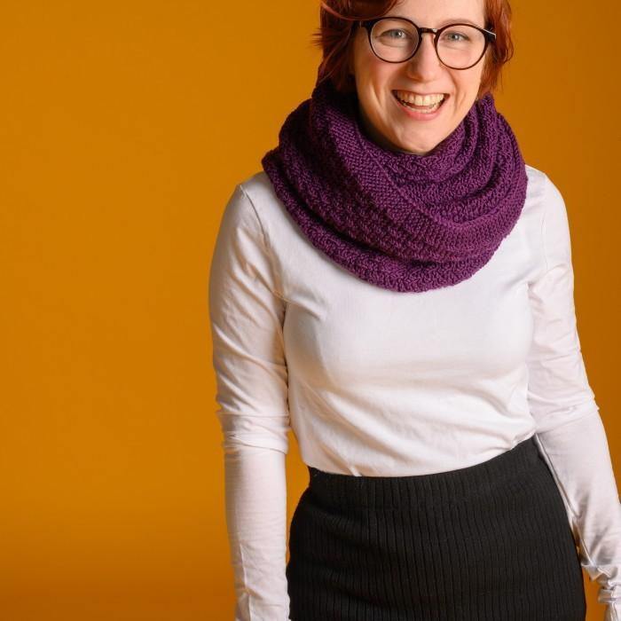 Lea Tube Scarf for Women, knit-r4-jpg