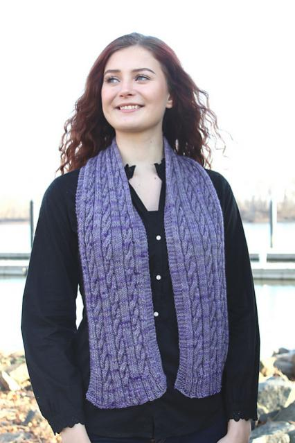 Cabled Scarf for Adults, knit-d1-jpg