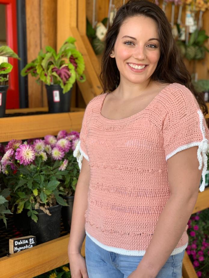 Spring Ribbon Sleeved Tee for Women,  S-XL-q1-jpg