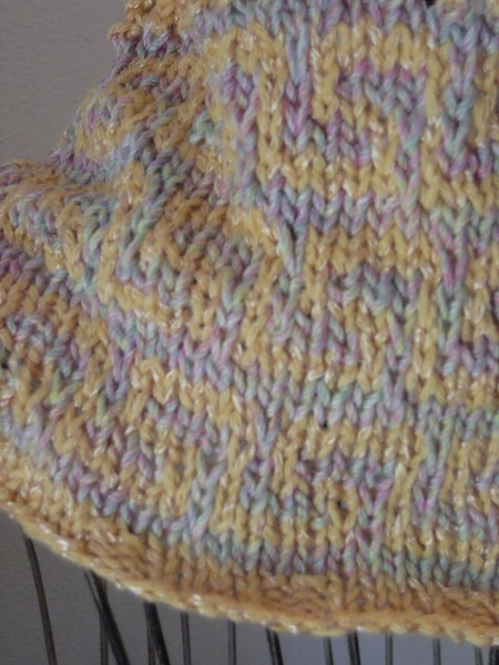 Fretted Band Cowl for Women, knit-a3-jpg