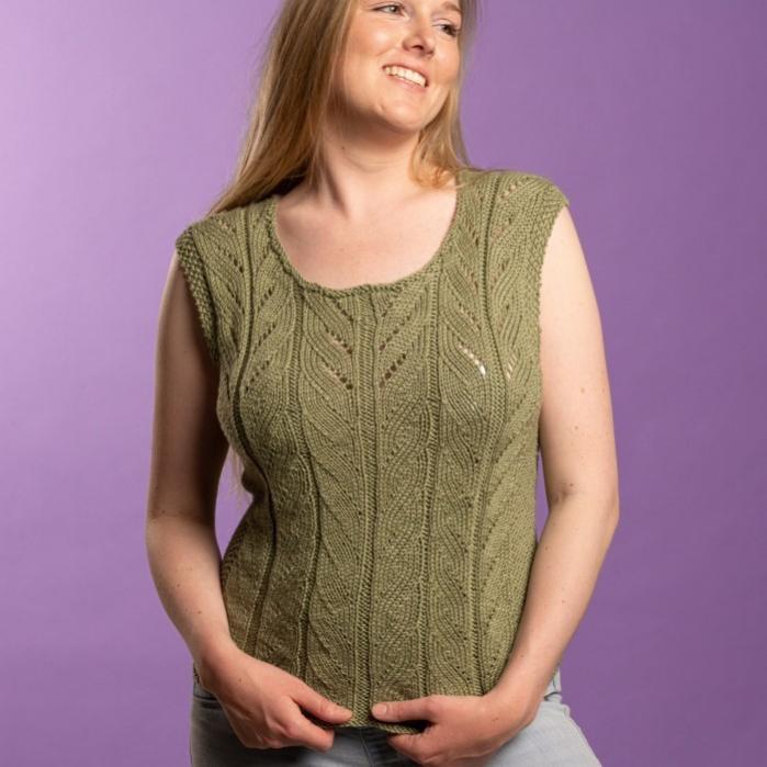 Eva Summer Top for Women, S/M, M/L, knit-d1-jpg