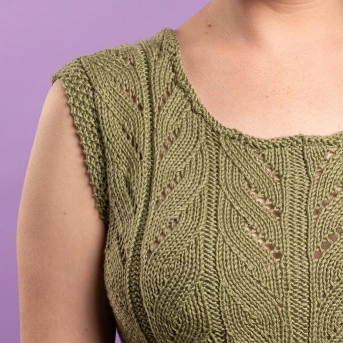 Eva Summer Top for Women, S/M, M/L, knit-d2-jpg