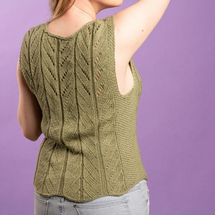 Eva Summer Top for Women, S/M, M/L, knit-d4-jpg