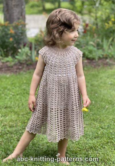 Children's Summer Shell Dress for Girls, 2-8 yrs-q1-jpg