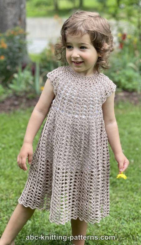 Children's Summer Shell Dress for Girls, 2-8 yrs-q2-jpg