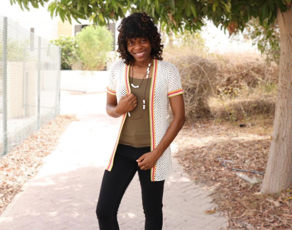 Colour Stripe Mesh Cardigan for Women, XS-4XL-w2-jpg