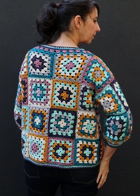 Everyday Granny Square Cardigan for Women, M, adaptable-q3-jpg