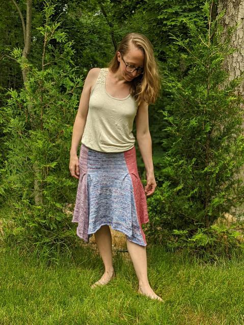 Petal Skirt for Women, XS-5XL, knit-a1-jpg