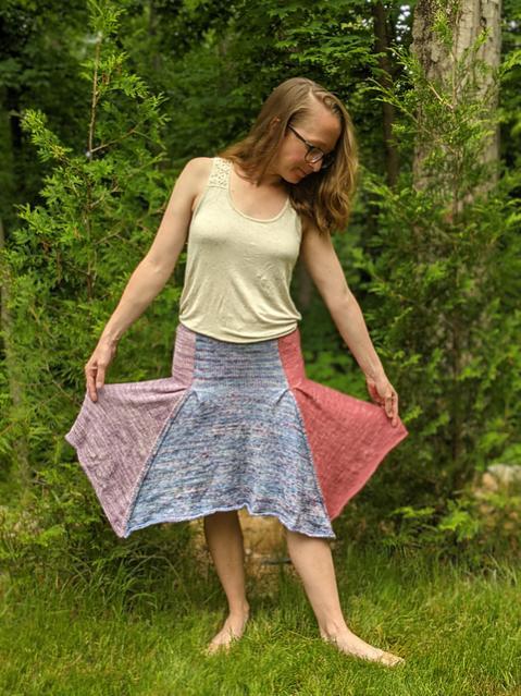 Petal Skirt for Women, XS-5XL, knit-a2-jpg