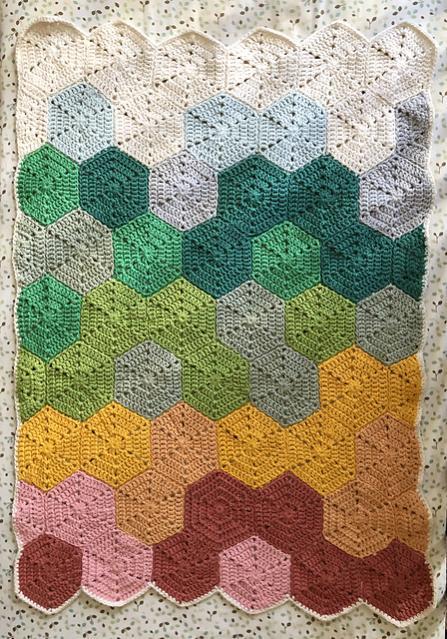 Rainbow Fade Hexagon Baby Blanket-r2-jpg