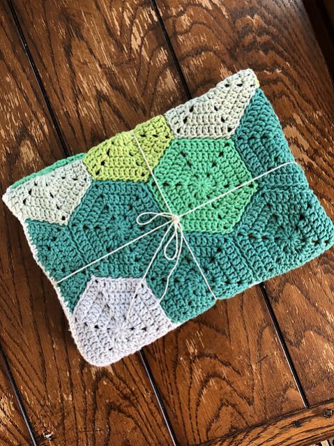 Rainbow Fade Hexagon Baby Blanket-r3-jpg