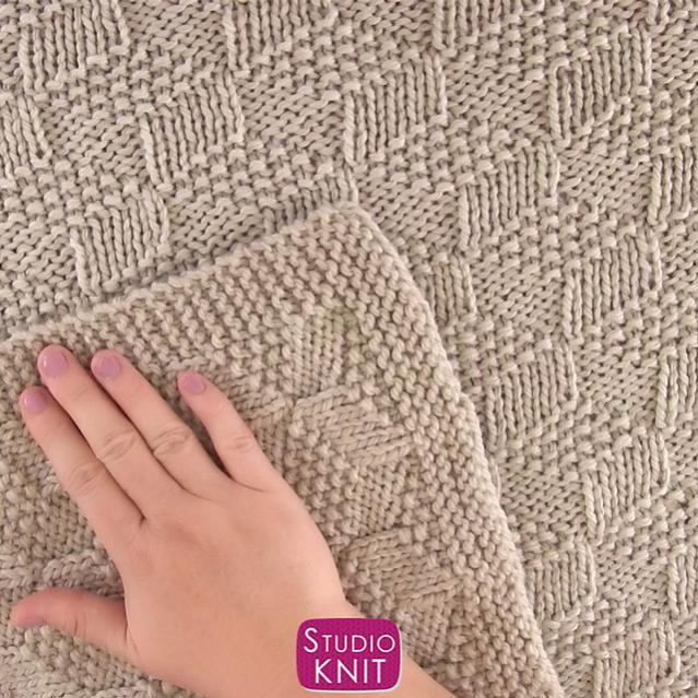 Tumbling Blocks Blanket, knit-a3-jpg