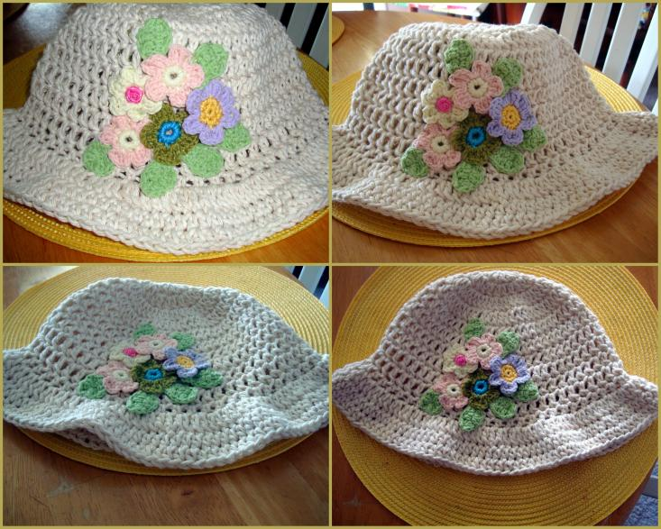 My Crocheted Sun Hat with Flowers-sun-hat-collage-jpg